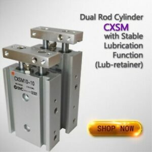 NEW 1pc Pneumatic CXSM15-100 Dual Rod Cylinder Double Acting SMC Type