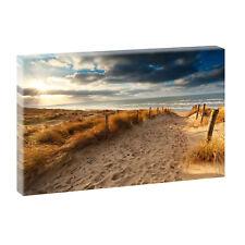 Strand Bild Meer Dünen Nordsee Leinwand Poster Wandbild 40 cm*80 cm 625
