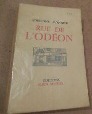 ADRIENNE MONNIER RUE DE L'ODEON par PREVERT SAINT-JOHN PERSE COURNOT et IDA