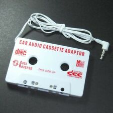 Car Cassette Audio Tape Adapter for MP3/MP4/CD/DVD/PDA/MD/ipod AUX 3.5mm White