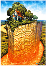 """Jigsaw Puzzles 1000 Pieces """"Tectonic"""" / Jacek Yerka"""