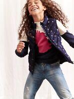 GAP Kids Girl's Sz 8-9 (M) NEW Puffer Jacket Vest Blue Stars Pink