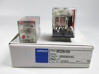 10PCS New Omron Relay MY2N-GS AC220/240V ( MY2NGSAC220240V )