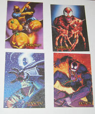1996 Fleer Ultra Spiderman CANVAS Set of 4 Cards of 6 VERY RARE Venom Carnage