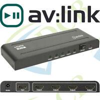 AV:LINK 4K HDMI Splitter 1x4 3840 x 2160, DTS-HD, Dolby True, DTS, Dolby-AC3 DSD
