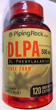 DLPA DL-Phenylalanine  Free Form 500Mg 120 Capsules Pills