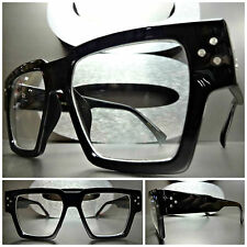 Men's Women CLASSIC VINTAGE RETRO Style Clear Lens EYE GLASSES Thick Black Frame