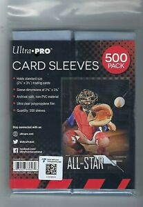 1 Pack of 500 Ultra Pro Soft Penny Poly Trading Sports Card Sleeves Holders