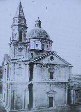Madonna Di San Biagio Church, Montepulciano, Italy, Magic Lantern Glass Slide