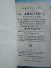 LE BLOND : ELEMENS DE FORTIFICATION, 1766. 19 planches dépliantes.