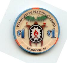 1.00 Casino Chip from the Wyandotte Nation Casino Wyandotte Oklahoma