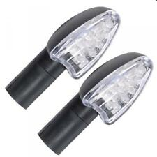 Oxford LED Indicator Matt Blk Finish - 12 LED Bulb - Long Stem - With 2 Resistor