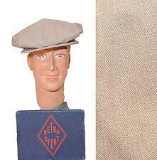 CASQUETTE APACHE GUINGUETTE FLAP CAP VINTAGE 1930's GATSBY BAL MUSETTE CAPUCCINO