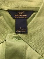Brooks Brothers 346 Men's Short Sleeve Original Fit Green Polo Shirt Size Large
