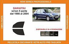 pellicola oscurante vetri dahiatsu sirion 5p dal 98-2004 kit anteriore