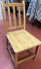2pcs Bamboo Dining Chairs Seat High Back Design Home Furniture -Wood Color NEW