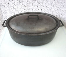 """WMF Cromargan HAND-FORGED STEEL dutch oven OVAL ROASTER pan & Lid 12.5""""x9""""x4.5"""""""