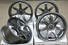 "18"" GUN METAL CRUIZE RB3 ALLOY WHEELS FITS NISSAN TOYOTA LEXUS STAGGERED 5x114"