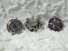 New Flower Starfish Butterfly 18/23mm Snap It Chuck Button Charms Lot/3  S 312