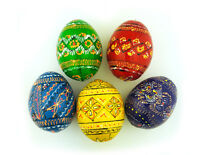 5 Colorful Hand Painted Ukrainian Easter Egg Eggs Pysanky Pysanki Easter Gifts