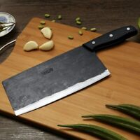 "8"" Traditional Handmade Chinese Butcher Chef Cleaver Knife Sharp Cutlery Knives"