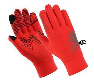 Running gloves Men Ladies light weight Reflective Black & Hi-VIZ