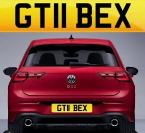 GT11 BEX PRIVATE NUMBER PLATE CHERISHED NUMBER  GOLF GTI or GT BEX REBECCA PLATE