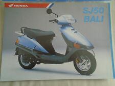 Honda SJ50 Bali Motorcycle brochure c1994 UK market