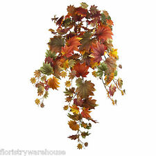 Autumn Leaves Se Arrastra Hoja de Arce Bush 90cm Seda Artificial Decoración de Otoño