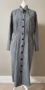 St Michael Classic And Original 1980s Vintage B&W Herringbone Dress, 16