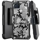 Holster Case For LG K92 5G (2020) Kickstand Phone Cover - GRAY STYLISH CAMO