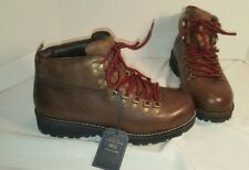 NEW EASTLAND AMERICAN EAGLE ALPINE HIKER BROWN LEATHER BOOTS US MEN'S 9