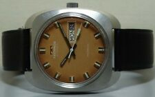 VINTAGE Technos Automatic Day Date MENS WRIST WATCH Old Used r772 Antique