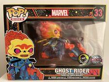 Funko Rides Marvel Ghost Rider Blacklight Pop Vinyl Popcultcha Exclusive #33