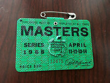 1968 Masters Badge Ticket Augusta National Golf Pga Bob Goalby Wins Rare Tiger