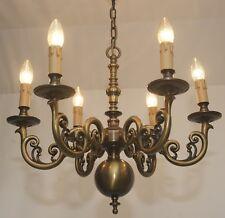 Barock Antik Stil Kronleuchter Messing Decken Lampe Leuchte Vtg 6.fl Lüster Alt