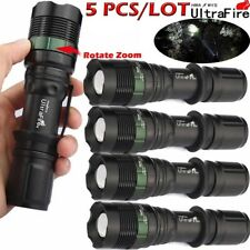 5/Lot Ultrafire Tactical 50000Lumens T6 LED 18650 Flashlight Lamp Zoomable Torch