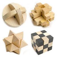 Puzzle de Madera Juego de Inteligencia Niño Niña Juegos de Mano Rompecabezas 3D