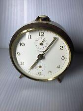 Used German MAUTHE Desk Alarm Clock Ivory