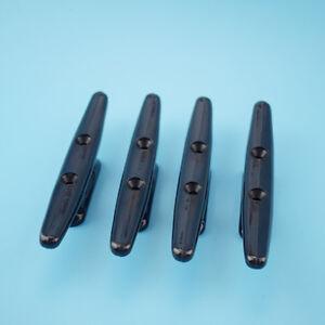 "4 PCS Boat Marine Cleat 6"" Black Nylon Plastic Open Base Affordable"