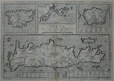 CRETA SARDEGNA CORSICA GRECIA - ORTELIUS 1624 Antica Carta Geografica Originale