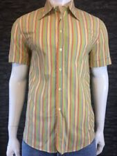 Dolce & Gabanna Short Sleeve Multicolour Striped Shirt  Size UK L EU 50 BNWT