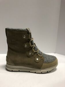 Sorel Explorer Joan Womens Waterproof Winter Boots Khaki II Size 8 M