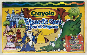 Crayola Wizard's Giant Box Crayons 1999 - New/Sealed - 120 Crayons + Bonus