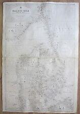 SWEDEN NORWAY DENMARK JUTLAND JYLLAND BALTIC SEA  VINTAGE ADMIRALTY CHART MAP