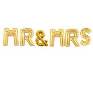 "40"" Gold MR and MRS Balloons  - Wedding Balloons Decor"