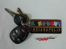 Indianapolis Motor Speedway Flags Mirror Finish Key Chain Indy 500 Brickyard 400