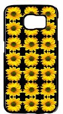 Cute Sunflowers Case For Samsung S6 s6 Edge S5 S4 S3 Note4 3 2 Rubber/Hard Cover