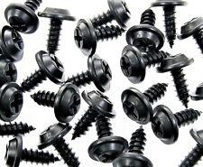 """Black Trim Screws- #10 x 1/2"""" Flat Top- 15/32"""" Washer Head- 50 screws- AD#212F"""