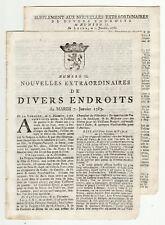 1783 Leide Gazette with letter from Philadelphia,  Election in Pensylvania,